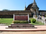 The high, fortified walls of this wat indicate that it once served as a wiang (fortified monastery).